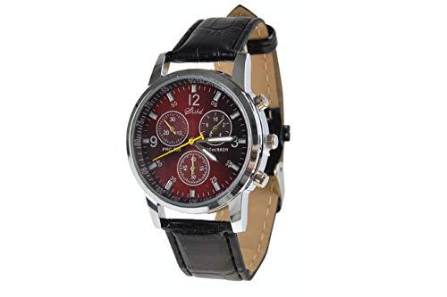 SPACEFLIGHT Armbanduhr in Schwarz, sportliche Analoguhr für Herren, Kunstleder, Ziffernblatt Durchmesser 3,7 cm