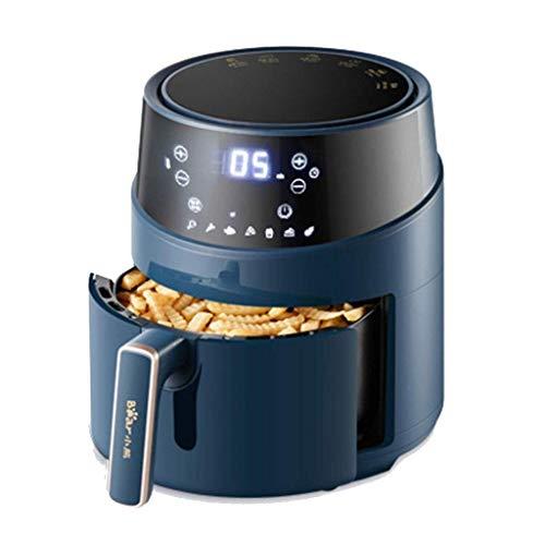 ZLJ Fryers Air Household Oven Multifunción Eléctrica de Gran Capacidad táctil holográfica (Color: Azul Tamaño: 33 * 35cm)