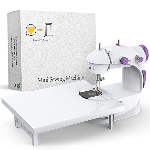 Beginner's Mini Sewing Machine with Extension Table | Easy-Sew Sleeves,...