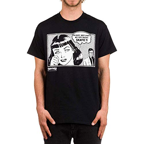 Thrasher - T-shirt - Uomo, BlackBlack, Medium