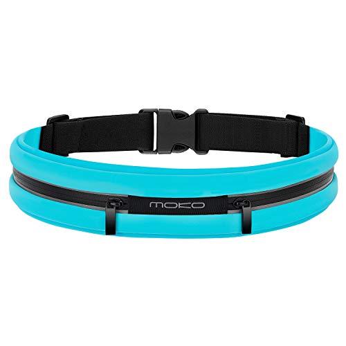 MoKo Sport Jogging Gürtel Hüfttasche Laufgürtel Taille Tasche Running Belt Kompatibel mit iPhone 12 mini/12/12 Pro, Galaxy S10/S10 Plus/S10e/S7 Edge, Huawei P8 Lite/P9, Handy bis zu 6