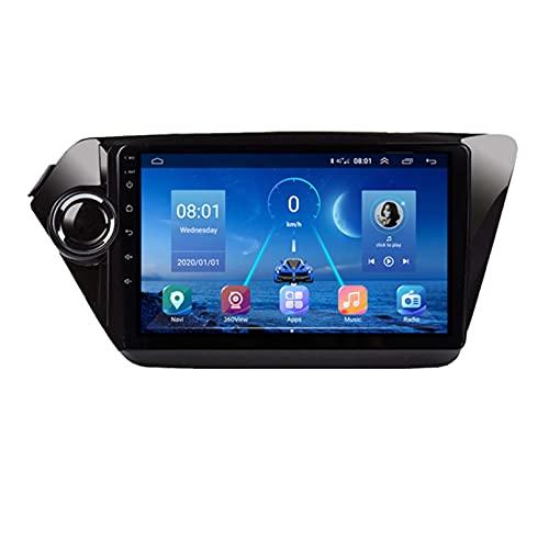 GOHHK Radio De Coche para Kia K2 Rio 3 4 2010-2018 2DIN Android 9.0 GPS Navegación Multimedia CD DVD Stereo Player Carplay 360 Sony Cámara(Size:Cuatro nucleos,Color:WiFi:2GB+32GB)