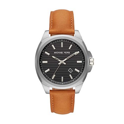 Michael Kors Men's Bryson Three-Hand Brown Leather Watch MK8659