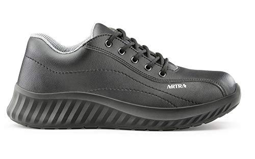 Artra Arbeitsschuhe Arawa 6217 schwarz MIT Stahlkappe (S2) für Lager, Küche, Lebensmittel, Handwerk, Werkstatt Gr. 36-48 (46 EU)