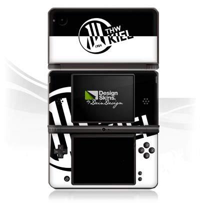 DeinDesign Skin kompatibel mit Nintendo DSi XL Aufkleber Sticker Folie THW Kiel Handball Schwarz Weiss