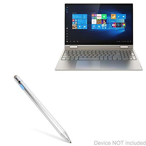Lenovo Yoga C740 (15 in) Stylus Pen, BoxWave [AccuPoint Active Stylus] Electronic Stylus with Ultra Fine Tip for Lenovo Yoga C740 (15 in) - Metallic Silver