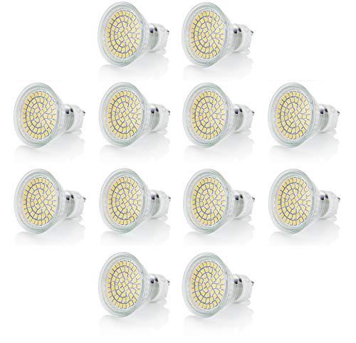 sweet-led Spar Pack GU10 LED 3W Lampe ersetzt 30W Halogen, 280 Lumen – LED Leuchtmittel 120° - 230V, warmweiß, kaltweiß strahler halogen (12er,warmweiß)