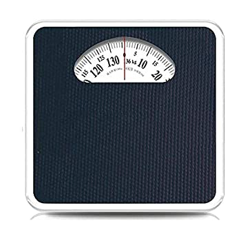 ZDY Precision Products Mechanical Rotating Dial Scale Analog Bathroom Scale with Sturdy Non-Slip Platform No Buttons/Batteries 280 lb Capacity.