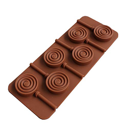 GYJWSBAW Ronde Bloem Lolly Siliconen Mold POP Sticks Tassen Taart Decoratie Gereedschap 3D IJs Snoep Chocolade vormen Bakgereedschap