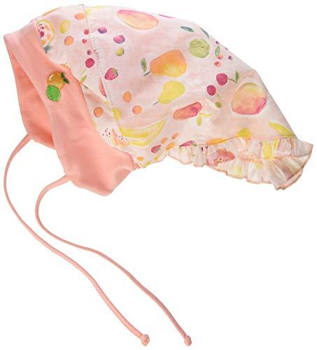 maximo Baby-Mädchen Kopftuchmütze Mütze, Mehrfarbig (Zartrosameliert-Gelb-Früchte...