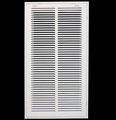 Return Air Filter Grille Filter Included - Removable Face/Door - HVAC VENT DUCT COVER - White
