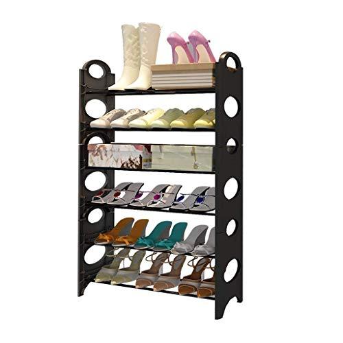 SHBV Zapatero Niveles de múltiples Capas Zapatero Tubo de Acero Estante para Zapatos Organizador de Almacenamiento Soporte Armario Torre Gabinete de Zapatos Duradero de diseño Exquisito (Color: N