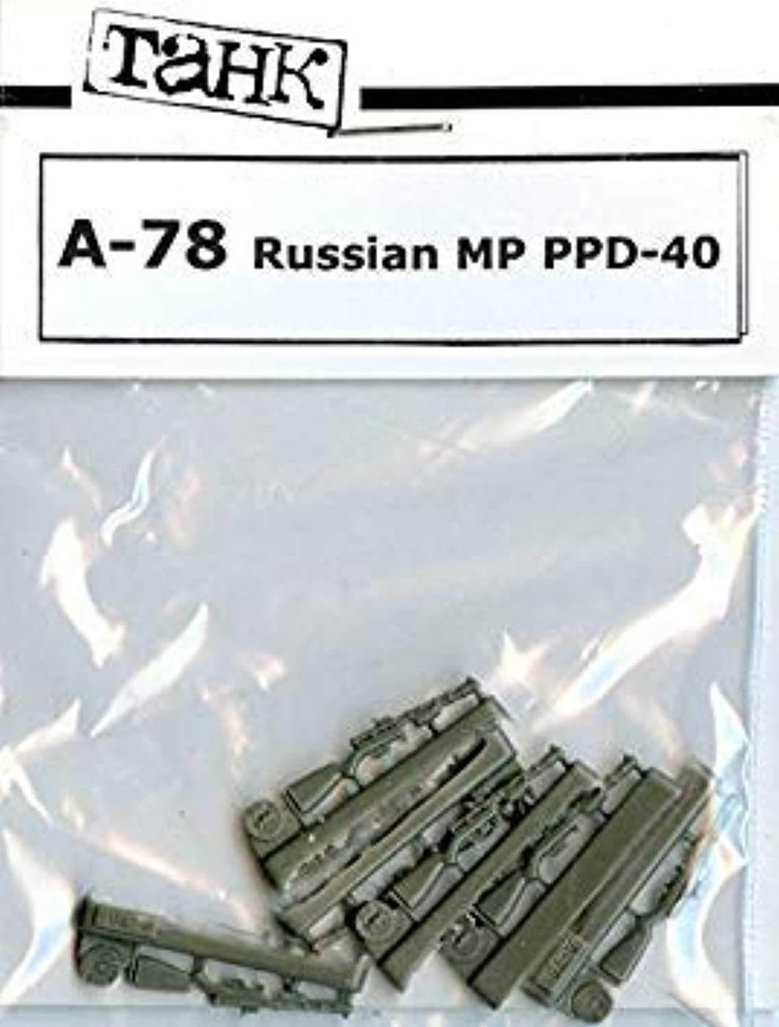TAHK Tank 1 35 Russian MP PPD40 Weapons Resin Detail   A78