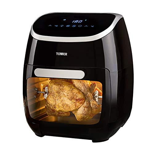 Tower T17039 5-in-1 Digital Air Fryer Oven with Rapid Air Circulation and 60 Min...