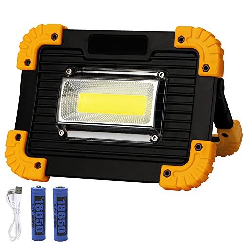 KAMEUN Luz de Trabajo LED Recargable,3 Modos,Foco LED Recargable para Lluminación del Lugar, Trabajo Reparación Coches,Cámping,Emergencia