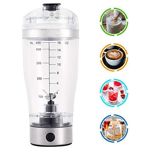 Fulllove Elektrischer Eiweiß Shaker Protein Shaker Mixer Eiweißshaker Kreative Elektro Blender für Säfte Cocktails Kaffee Tee Eiweiss- und Diätpulver Cup