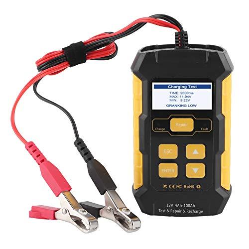 Cargador automático de batería lenta, batería de coche Mantenedor de cargador Analizador de carga automotriz Herramienta de prueba del sistema de carga de arranque(Estándar europeo 220V)