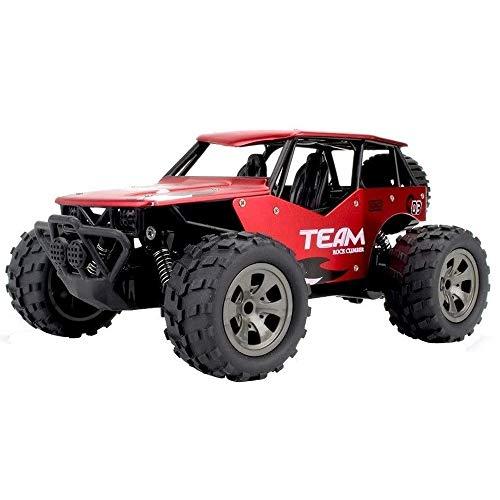 Poooc Gran Escala 1:18 RC Cars 15- 20km / h coche teledirigido eléctrico 4x4 Off Road Monster Truck All Terrain Vehicle pie grande de escalada for niños y adultos de 2, 4 GHz recargable Buggy juguete