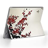 igsticker Decal Cover for Microsoft Surface Go/Go 2 Ultra Thin Protective Body Sticker Skins 005383 Japanese Style Japanese Pattern Flower Bird