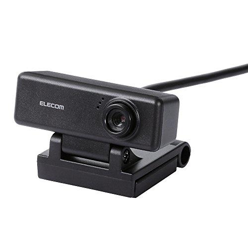 エレコム WEBカメラ マイク内蔵 100万画素 高精細ガラスレンズ ブラック UCAM-C310FBBK