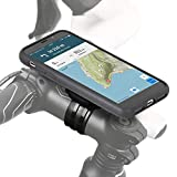 Fahrradhalterung für Apple iPhone X - QuickMOUNT Bike Case + Lenker Befestigung + wetterfeste Schutzhülle (Smartphonehalter für Fahrrad mit Ladekabel Anschluss) schwarz