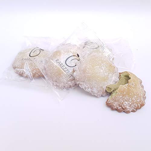 Fagottini al pistacchio, le famose frolle siciliane con sublime ripieno di crema di pistacchio di Sicilia (gr.400). RAREZZE: cannoli, pasta di mandorle, cassate, da pasticceria artigianale siciliana.