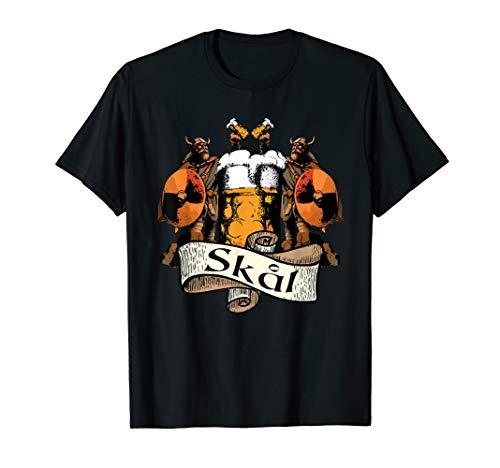 Skal Shirt Heiden Drink wie ein Wikinger Barbar Bier T-Shirt