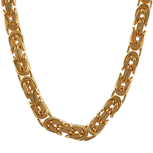 2,8 mm 45 cm 585-14 Karat Gelbgold Königskette massiv Gold hochwertige Halskette 25 g