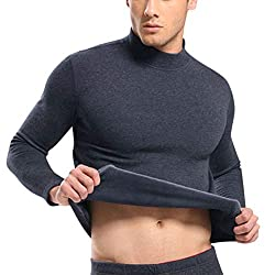 FidgetGear Men Thicken Turtleneck Thermal Underwear Thickened High Neck Warm Winter Tops