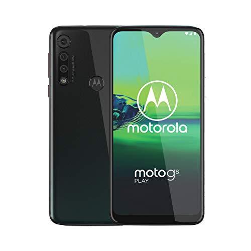 "Motorola Moto G8 Play XT2015-2 (32GB) 6.2"" (19:9) HD+ 4G LTE GSM Factory Unlocked Smartphone (International Version) (Obsidian Grey)"