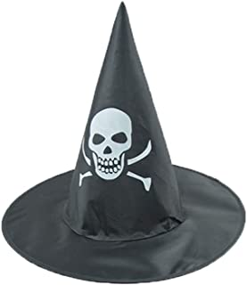 Adults Halloween Costume Accessory Print Witch Hat Women Men Cosplay Party Cap
