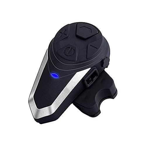 Frieed Casco de Motocicleta 1000M BT Intercomunicador Impermeable FM Interfono inalámbrico Durable (Color : US Plug)