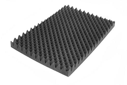 SCHAUMEX ® Noppenschaumstoff 50x30x5cm - Akustik Schaumstoff, Akustikschaumstoff, Dämmung für Tonstudio, Youtube room, In Deutschland hergestellt
