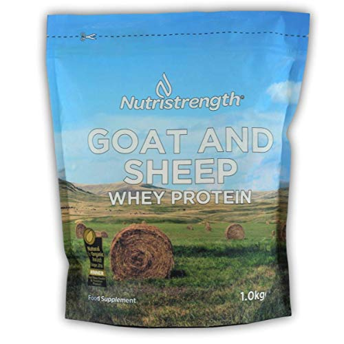 Nutristrength Goat & Sheep Whey Protein Powder 1kg | Unflavoured | Low Calorie & High Protein | Made in The UK