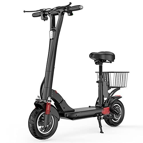 qwert Alto-Final Patinete Electrico Adulto,Ligero Y Portátil Plegable E-Scooter,Doble Sistema De Frenado...