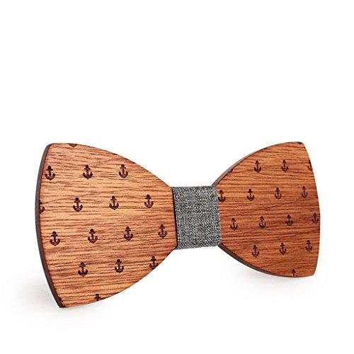 SetProducts [Efecto Impresionante!] Mano de madera pajarita hizo / estilo de ropa...