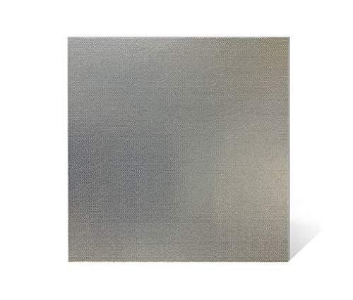 Gres porcelánico fino 33 x 33 x 0,35 – 3,5 mm – (azulejos de gres fino 3,5 mm para revestimientos de cocina, revestimientos murales y antisalpicaduras) – Precio por m² (plata)