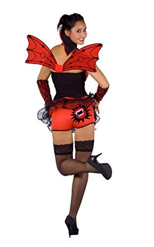 Fiori Paolo- Vampirella Burlesque Costume Adulto, Rosso, M, 26702