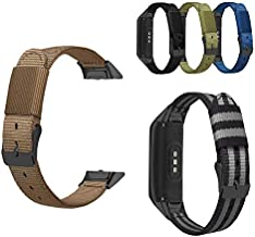 Gazelle Trading Nylon Watch Band Replacement Bracelet Wrist Strap,Compatible with Samsung Galaxy Fit Bands,Wristband for Samsung Galaxy Fit SM-R370 Fitness Smartwatch