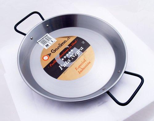 "Restaurant Grade 'Pata Negra' Paella Pan - Flat Bottom - 12""/30cm"