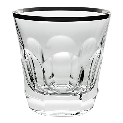 Cristal de Sèvres Chenonceaux Set di Bicchieri Whisky, Vetro, Platino, 10x 10x 10cm, 2Pezzi