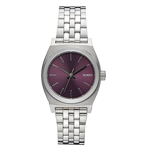 Nixon Damen-Armbanduhr Small Time Teller Analog Quarz Edelstahl A3992157-00