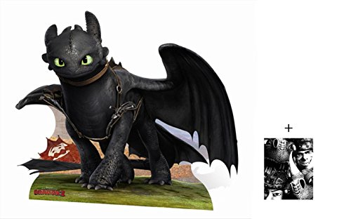 Toothless von How To Train Your Dragon 2 (Drachenzähmen leicht gemacht) Lebensgrosse Pappaufsteller mit 25cm x 20cm foto