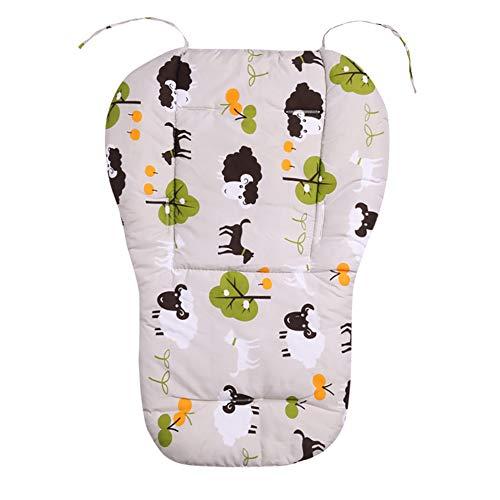 1 silla de paseo acolchada de algodón transpirable universal reversible para bebé Seat Liner Cochecito Seat, Buggy Liner Mate Cover Protector para bebé (Little Sheep)
