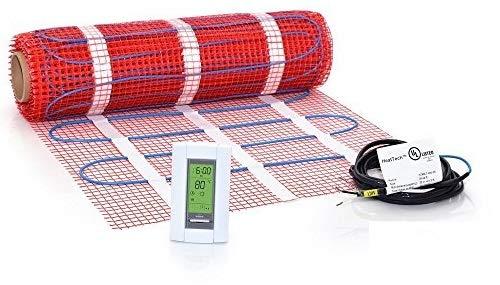 35 sqft HeatTech 240V Electric Tile Radiant Floor Heating Mat Kit -  HTMATKIT-240-35