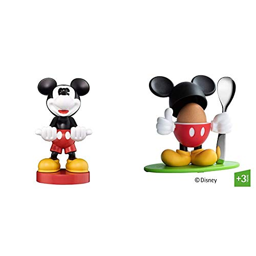 Cable Guy - Mickey Mouse & WMF Disney Mickey Mouse Eierbecher mit Löffel, Kunststoff, Cromargan Edelstahl poliert, spülmaschinengeeignet, farb- und lebensmittelecht