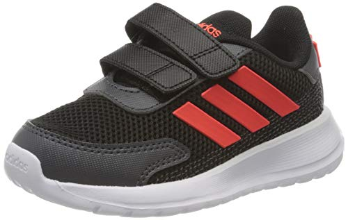 adidas TENSAUR Run I, Scarpe da Ginnastica Unisex-Bambini, Core Black/Solar Red/Grey Six, 25 EU