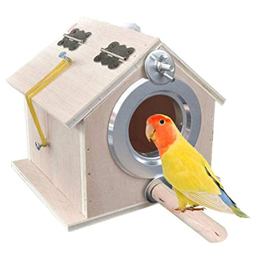 kathson Parakeet Nest Box Bird Nesting House Parrot Breeding Mating Box for Lovebirds Cockatiel Budgie Finch parrotlets-L