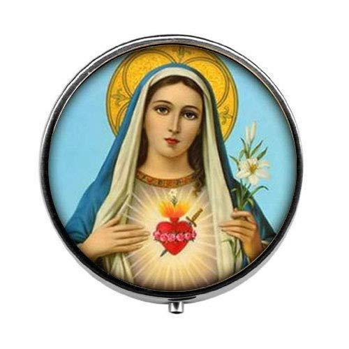 Pastillero Virgen María, caja de dulces cristianos, religiosos, religiosos, espirituales, católicas, joyería...