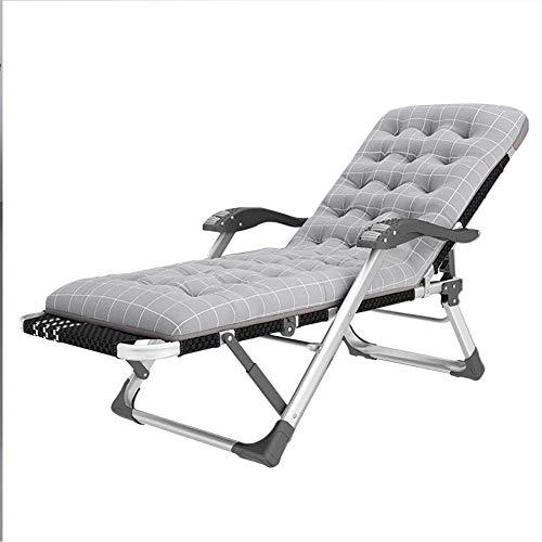 WFFF Sillón de Patio Plegable más Ancho Silla reclinable de Gravedad Cero Acolchada con portavasos para Oficina/jardín al Aire Libre